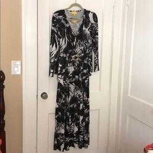 Liz Lange Tropical Maxi Dress & Match Cardigan S